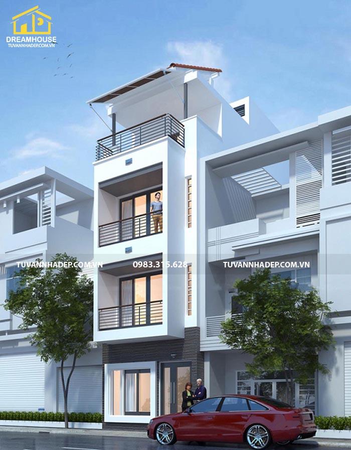 nhà phố 3 tầng mặt tiền 4.5m
