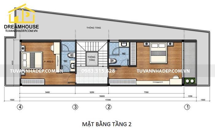 bố trí công năng tầng 2 cho nhà đẹp90m2