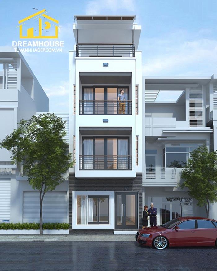 nhà phố 3 tầng 1 tum 4.5x15m