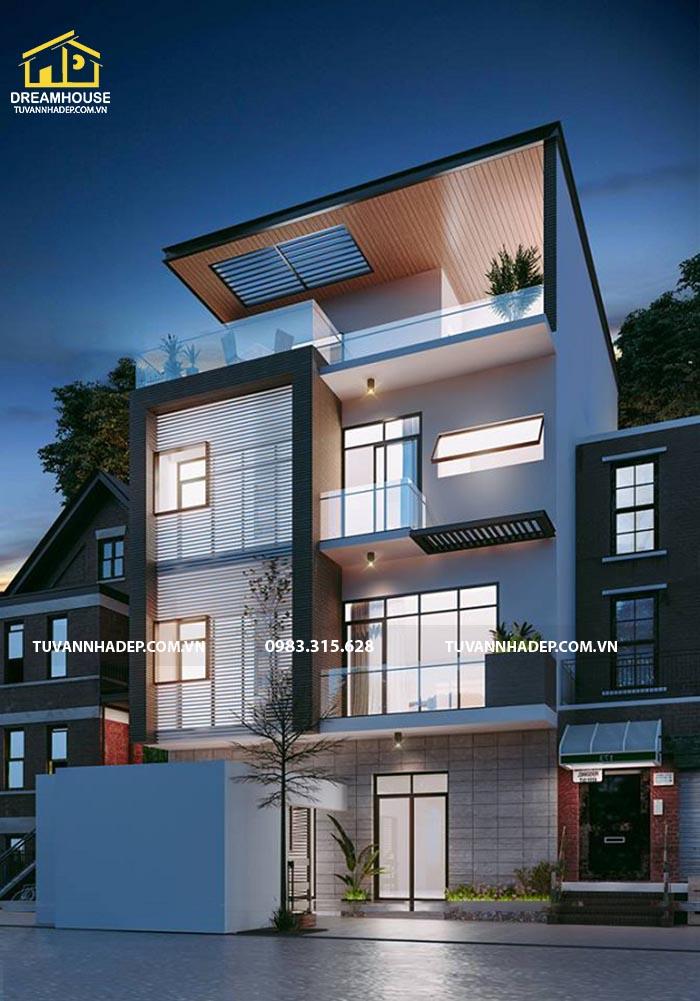 mẫu nhà biệt thự đẹp 4 tầng