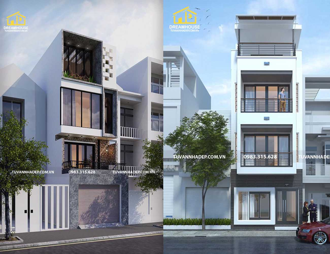 Mẫu nhà phố 3 tầng mặt tiền 4.5m mang phong cách hiện đại, sang trọng