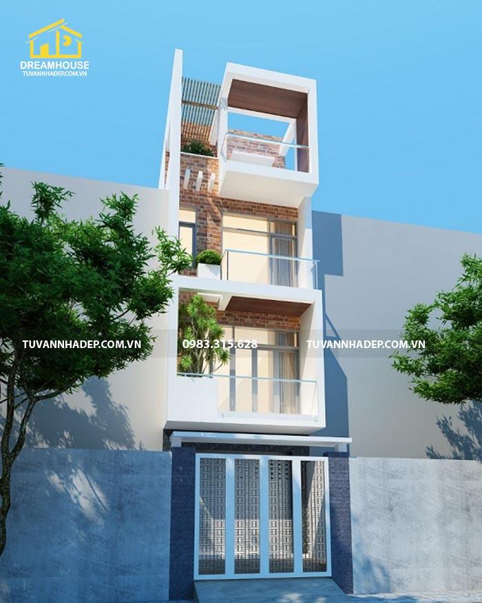 mặt tiền nhà 4 tầng mặt tiền 4m