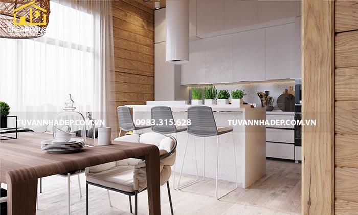 Căn bếp được sử dụng nội thất cao cấp