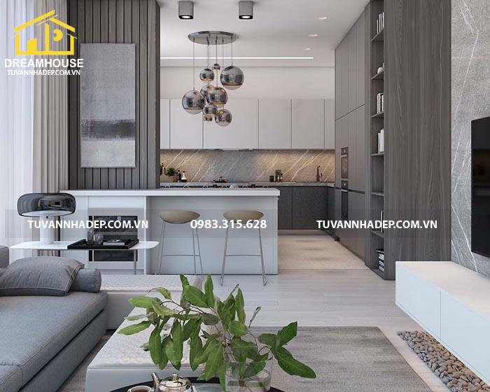 Mẫu thiết kế nội thất chung cư 120m2 cao cấp 3 phòng ngủ