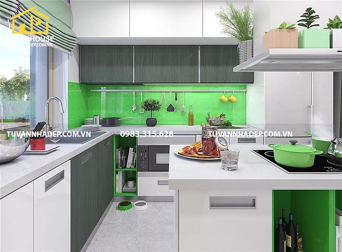 hình ảnh nội thất phòng bếp nhà cấp 4