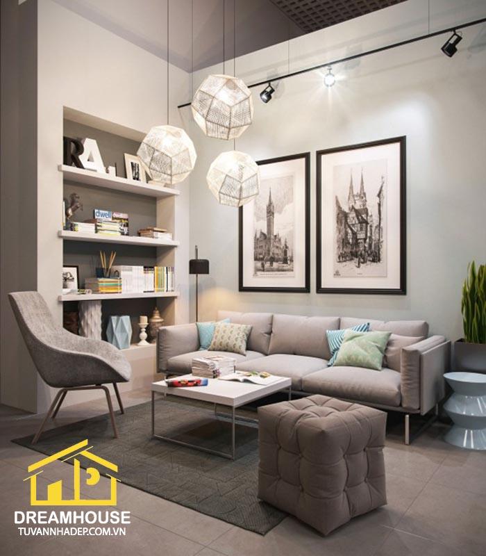 cách trang trí nội thất phòng khách cho nhà phố
