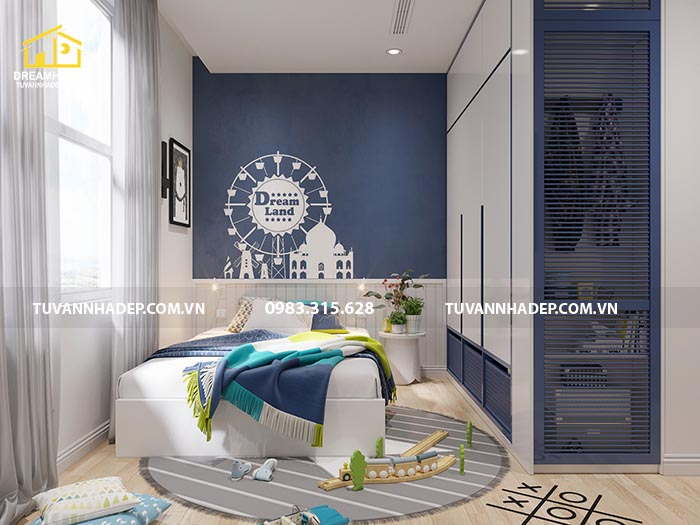 Thiết kế nội thất căn hộ 90m2 3 phòng ngủ độc đáo