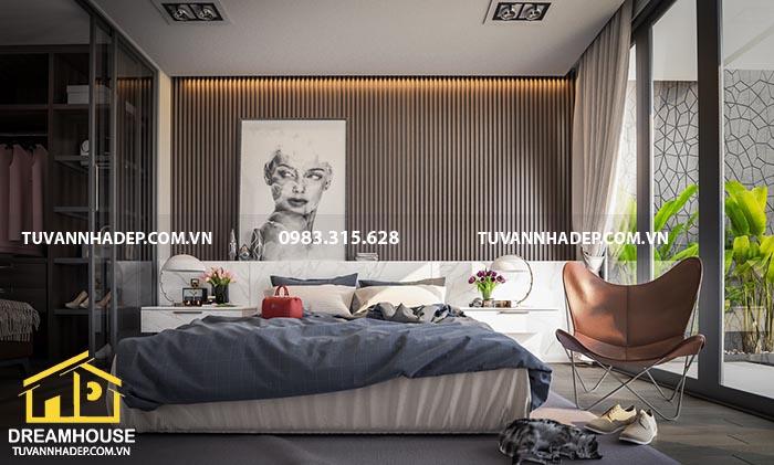 thiết kế nội thất phòng ngủ cho vợ chồng mới cưới