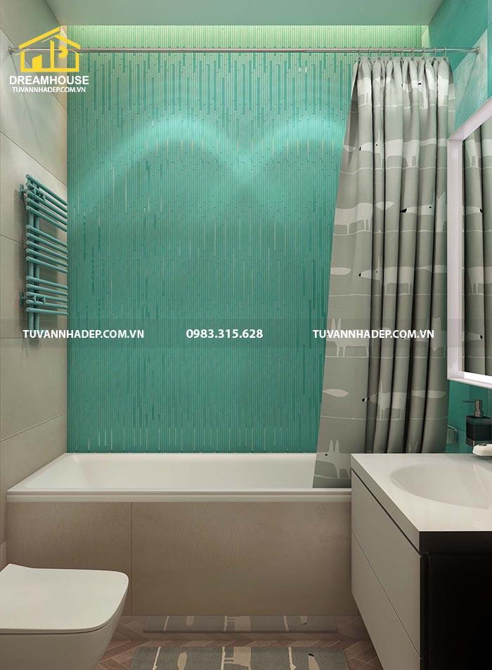 mẫu phòng tắm của chung cư 120m2
