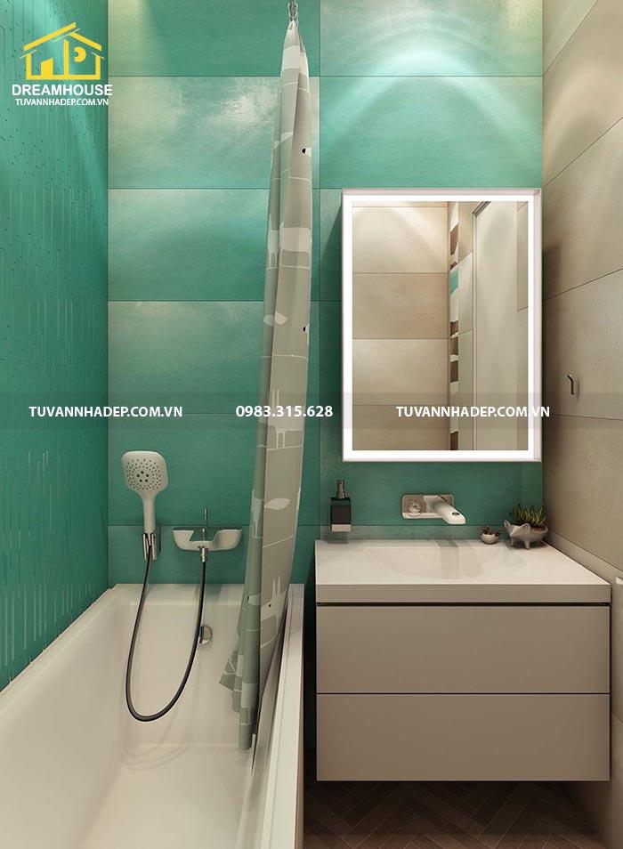 Nhà vệ sinh cũng được sử dụng các nguyên liệu cao cấp