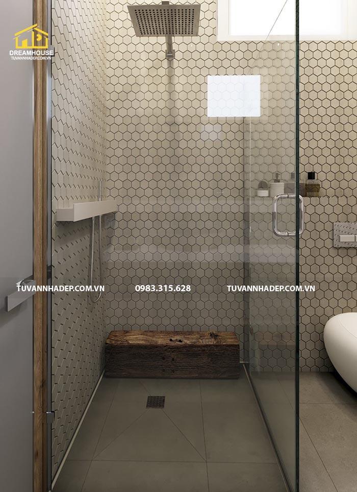 Bồn tắm đứng trong căn hộ chung cư 100m2