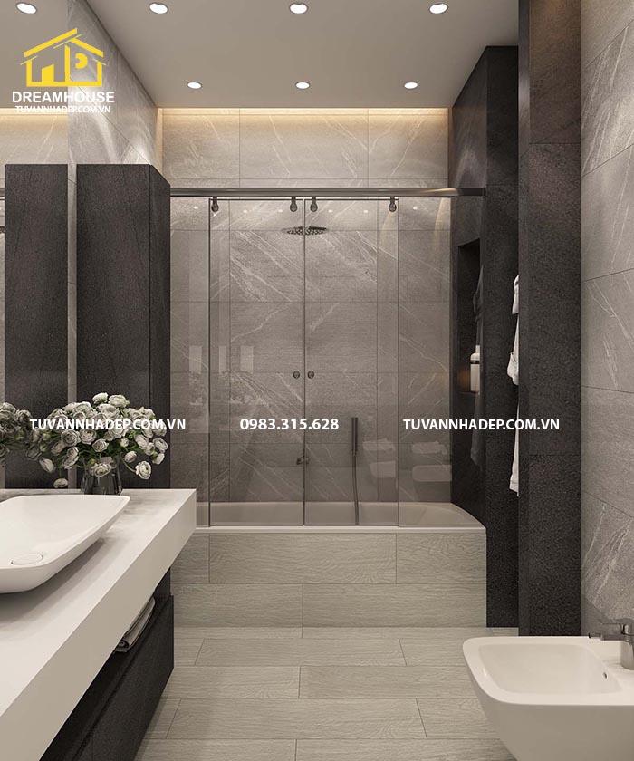 Bồn tắm đứng thiết kế đơn giản và hiện đại