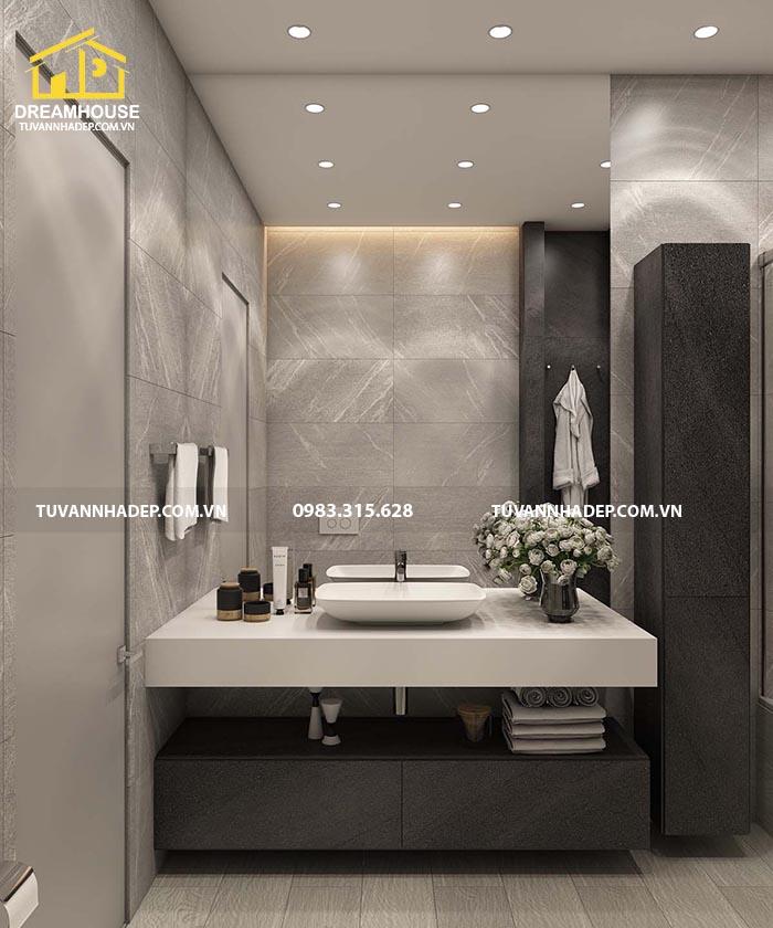 Bồn rửa tay được thiết kế đặc biệt sang trọng