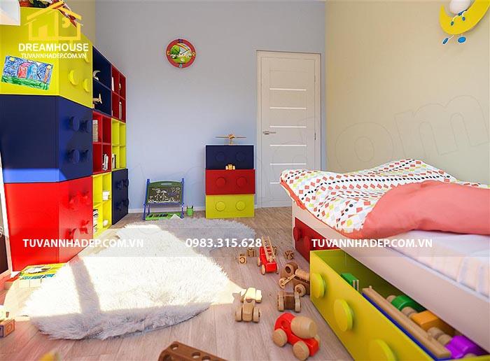 không gian phòng ngủ đẹp dành cho bé