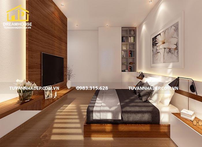 phòng ngủ được thiết kế thông thoáng
