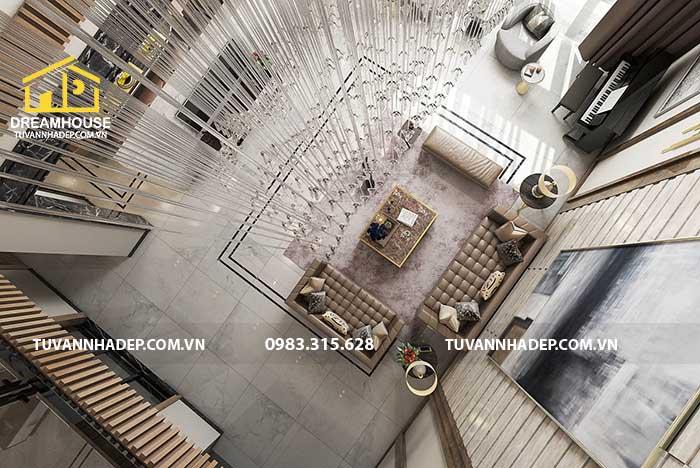 hình ảnh phòng khách thông tầng đẹp
