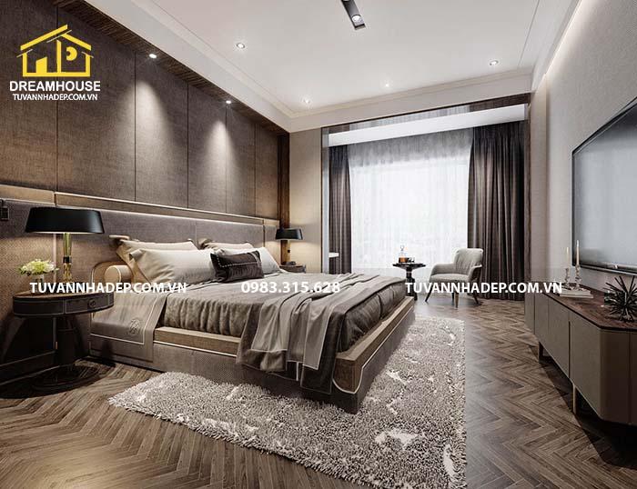 phòng ngủ ấm cúng cho bố mẹ