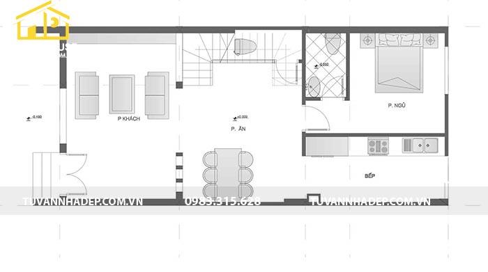 hình ảnh mặt bằng tầng nhà phố tân cổ điển 84m2