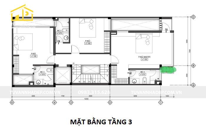 nhà phố 4 tầng có gara ô tô 96m2