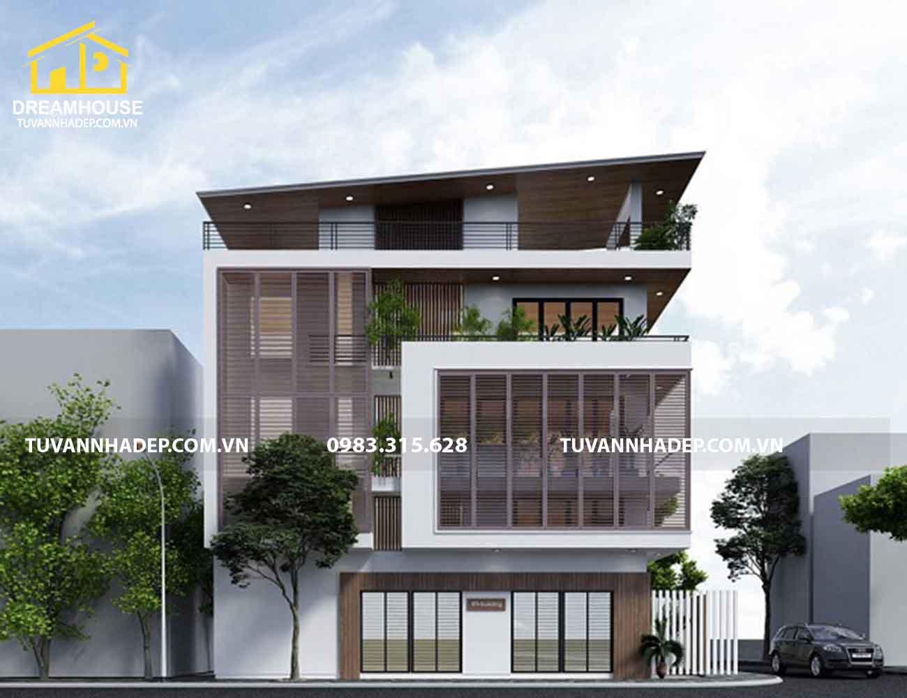 nhà phố 2 mặt tiền 4x12m