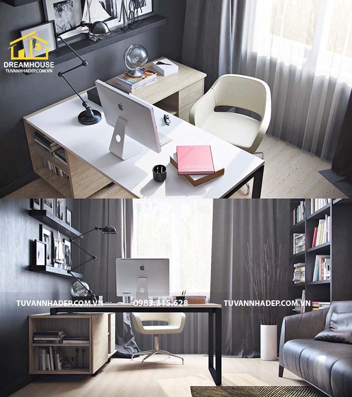 thiết kế nội thất phòng làm việc tại nhà