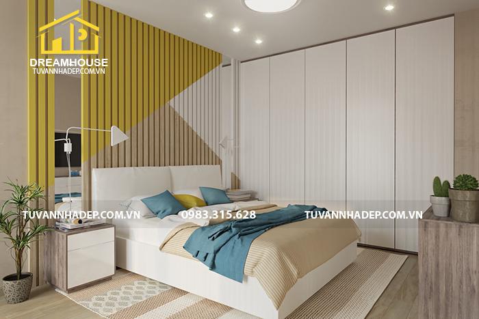mẫu phòng ngủ đẹp cho nhà phố 54m2