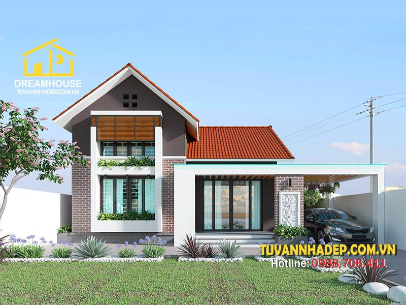 Mẫu thiết kế nhà cấp 4 4 phòng ngủ 200m2 hiện đại ở Vĩnh Phúc