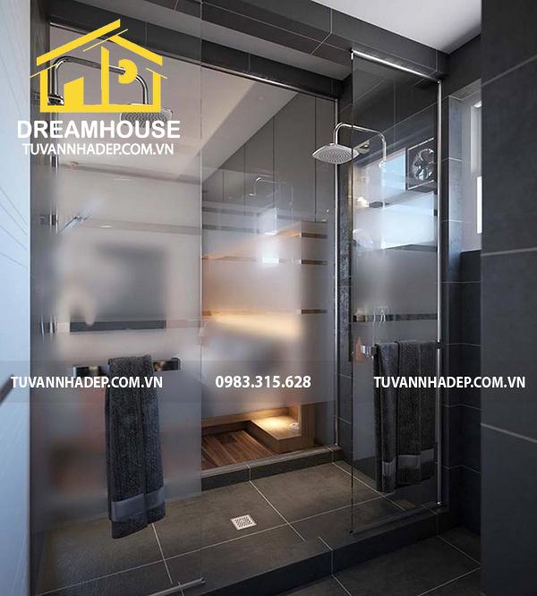 thiết kế nội thất phòng tắm nhà phố 6 tầng mặt tiền 6m