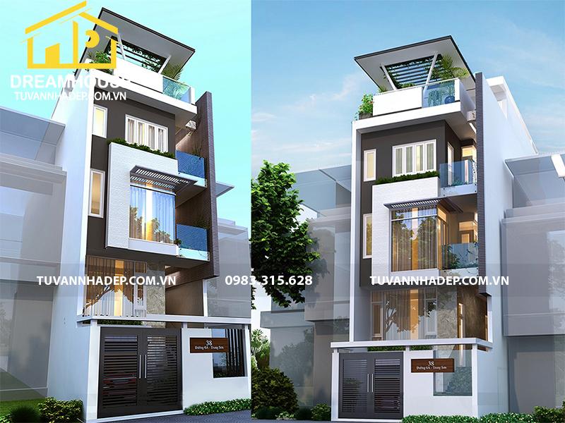 Thiết kế nhà phố 6 tầng mặt tiền 6m độc đáo tại Hà Nội