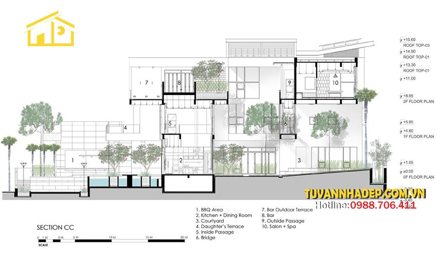 hình ảnh mặt đứng Mẫu biệt thự hiện đại 3 tầng 250m2 không gian mở mới lạ ở Hà Nội