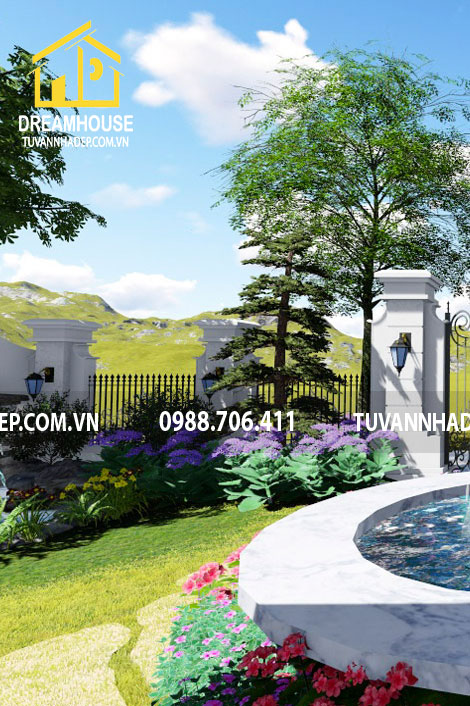 Thiết kế sân vườn biệt thự 420m2