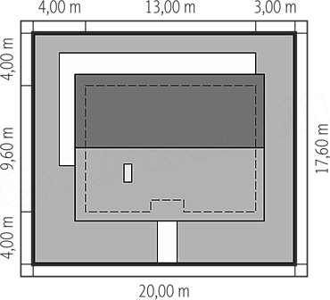 bản vẽ mái nhà cấp 4 ba phòng ngủ 125m2