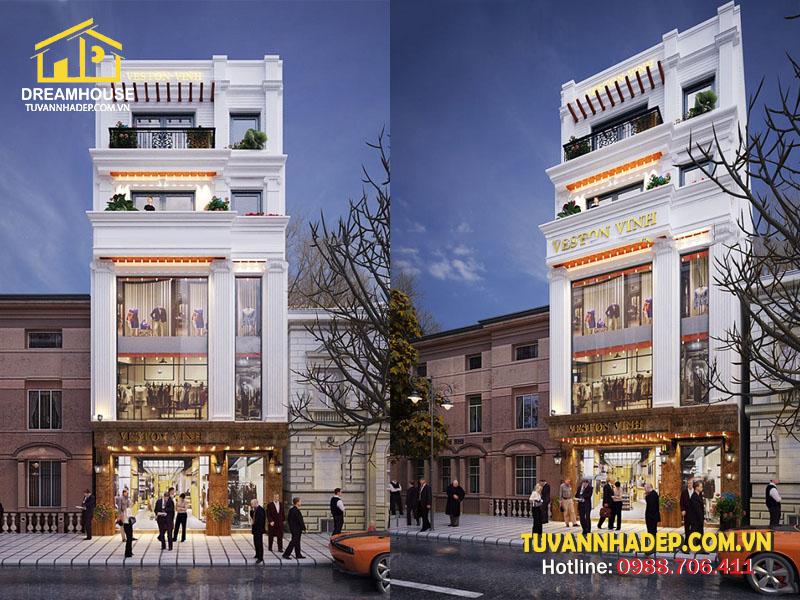 Nhà phố 5 tầng mặt tiền 8m kết hợp kinh doanh hiện đại và đẳng cấp