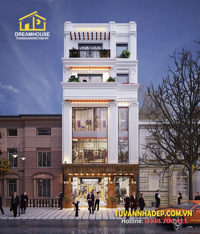 mặt tiền nhà phố 5 tầng mặt tiền 8m