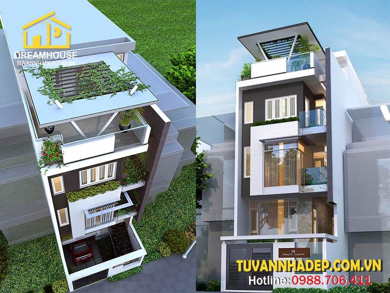 Mẫu thiết kế ngôi nhà phố 6 tầng 6x18m phong cách hiện đại