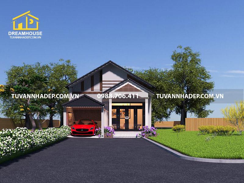Giới thiệu mẫu thiết kế nhà cấp 4 mái tôn 7x20m2 giá rẻ tại Ninh Bình