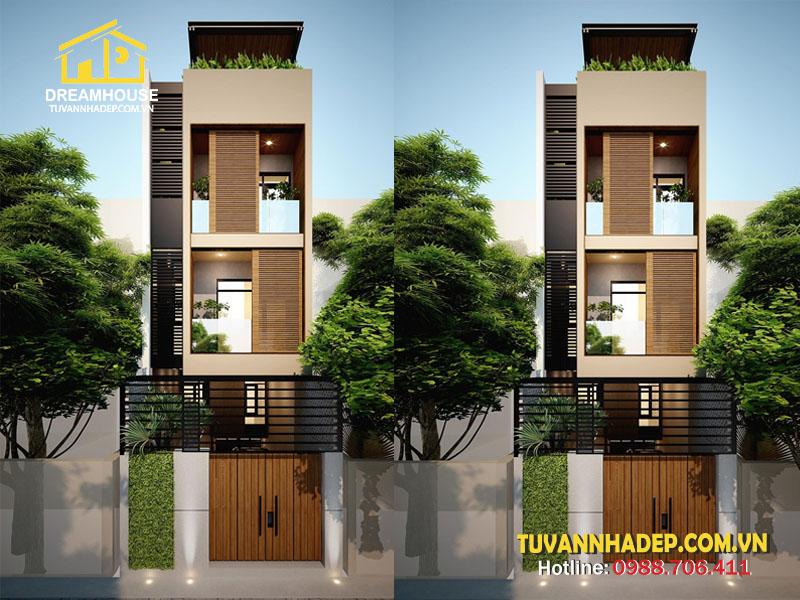 Thiết kế nhà phố 4 tầng 4x13m ở Hà Nội đơn giản nhưng tiện lợi