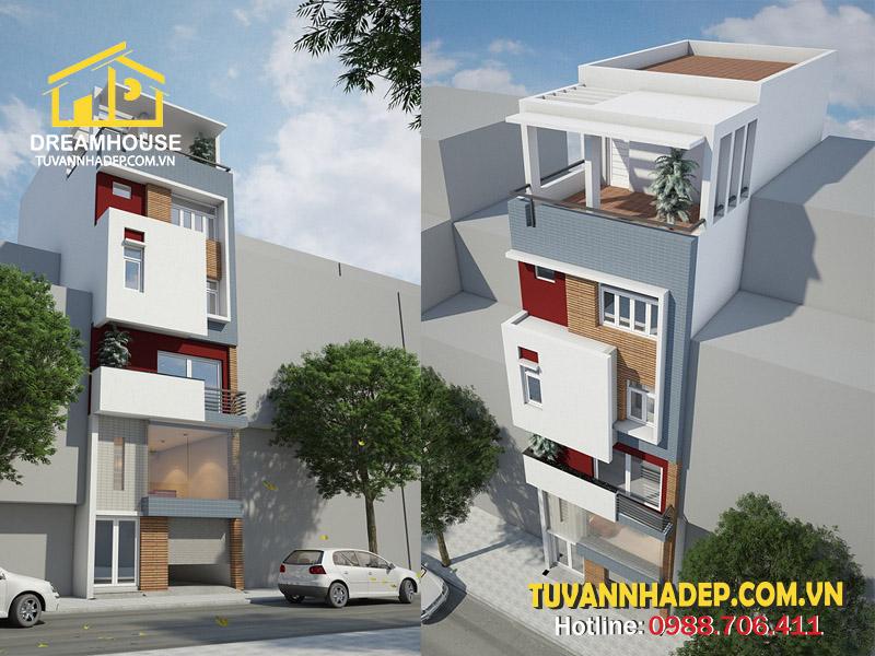 Giới thiệu căn nhà phố 5 tầng 60m2 có gara ô tô