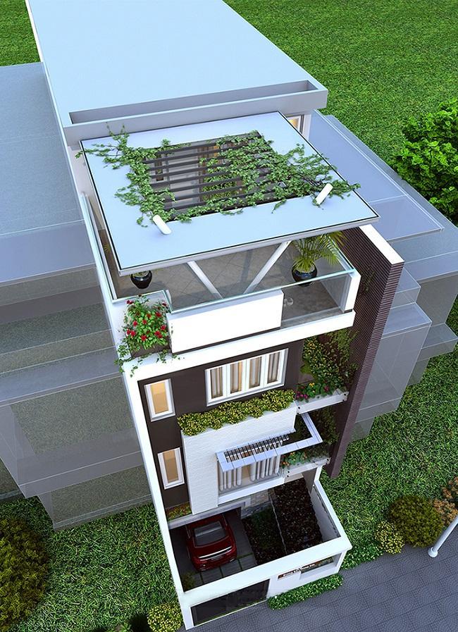 hình ảnh tổng quan nhà phố đẹp 6 tầng 6x18m