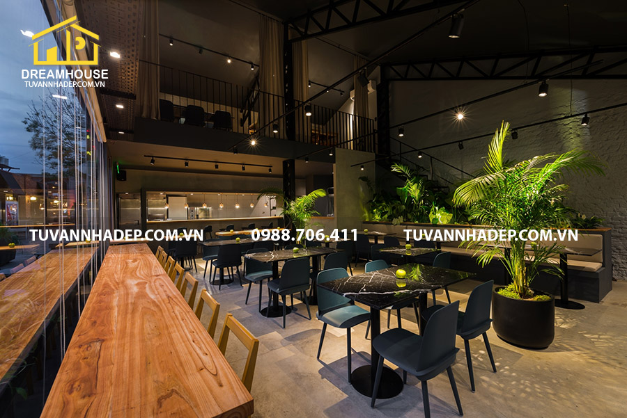 hình ảnh thiết kế nội thất nhà hàng ăn nhanh