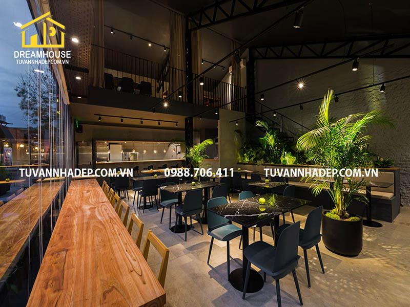Thiết kế nội thất nhà hàng ăn nhanh phong cách hiện đại thu hút khách hàng