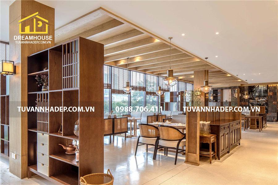 thiết kế nhà hàng trung hoa với không gian ấm cúng