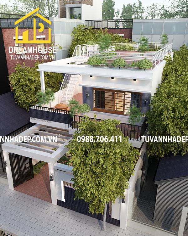 Căn nhà phố hiện đại 2 tầng 60m2