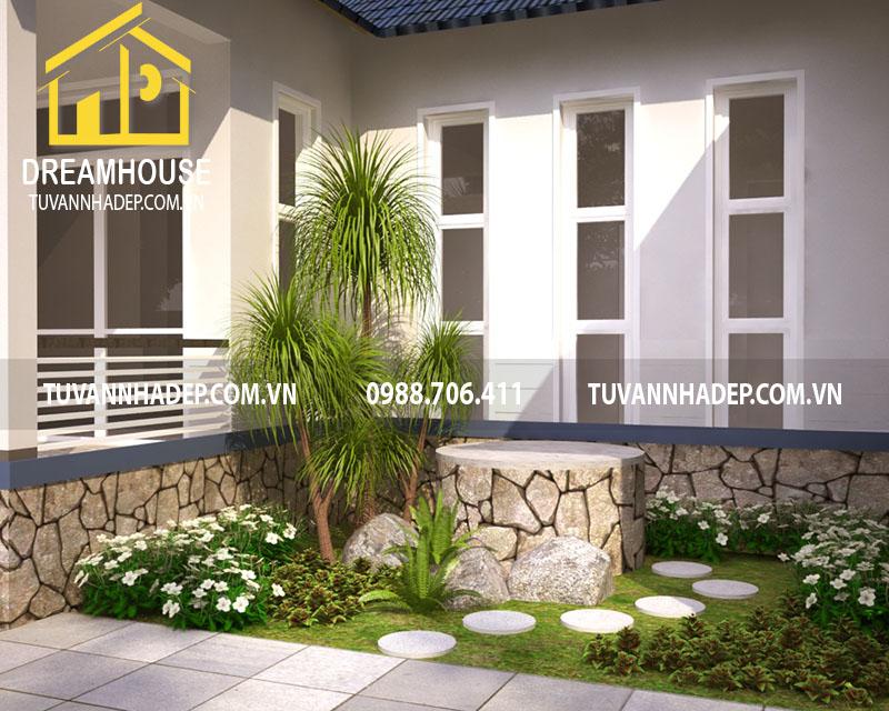 Thiết kế tiền sảnh căn nhà cấp 4 ở nông thôn
