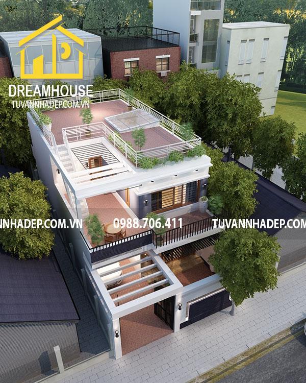 Toàn cảnh căn nhà phố 2 tầng hiện đại không gian sống thoáng đãng