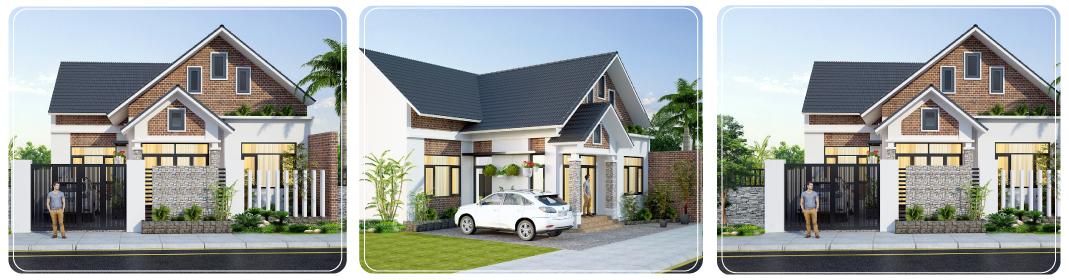 thiết kế mẫu nhà đẹp 1 tầng