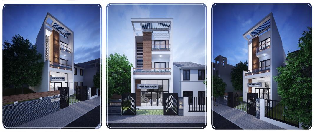 bản vẽ nhà phố 3 tầng kết hợp kinh doanh