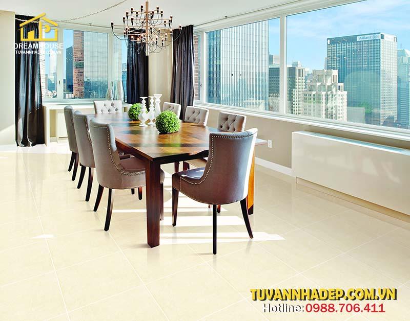 hướng dẫn chọn gạch lát sàn cho phòng ăn