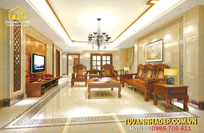 hướng dẫn chọn gạch lát sàn cho phòng khách