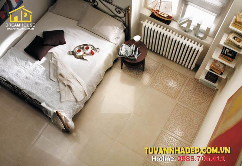 cách chọn màu gạch lát nền cho phòng ngủ